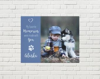 Pet Memorial Canvas 08FMMWY - Pet Photo Canvas - Dog Canvas - Pet Memorial - Pet Portrait  - Custom Photo Canvas - Dog Memorial - Pet Loss