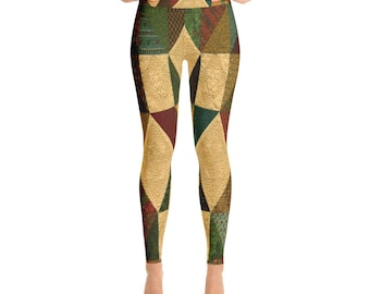 Figurative Leggings, Yoga, Sport Style, Fitness Women Pants, AdoreDesignBoutique