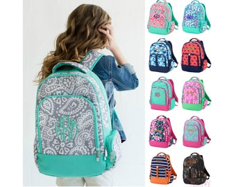 Monogrammed Backpack Personalized Bookbag Girls Boys Kids School Tote Bag Embroidered Book Bag Personalized Backpack Monogrammed Bookbag