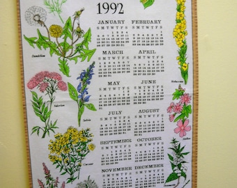 Kitschy 1992 Calendar Towel