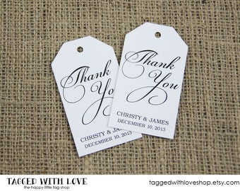 Thank You Tag - Party Favor Tags - Shower - Wedding Favors - Christening - Custom Tag - Bridal Shower Tags - Party Favor - LARGE