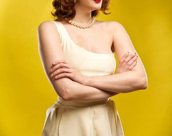 Wilma Flintstones Inspired Rubber Latex Dress