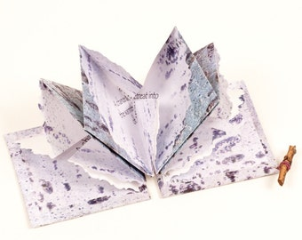 Winter Nap, an origami fold artist book with poem