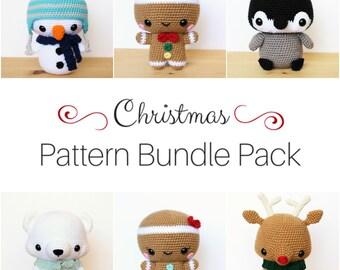 6 PATTERNS Bundle Pack: Cuddle-Sized Christmas Amigurumi Pattern Pack, Crocheted Pattern, Toy Tutorial, PDF Crochet Pattern, Winter Crochet