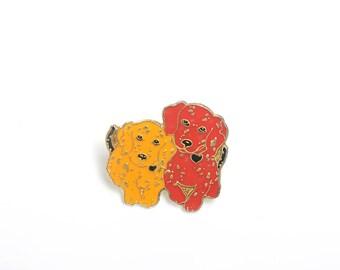 Puppy, dog pin, enamel pin, lapel pin, dog, Dog enamel pin, dog brooch, dog lover gift, dog badge, dog lover, dog lapel pin,dog jewelry,cute