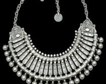 Handmade traditional Turkish silver necklace