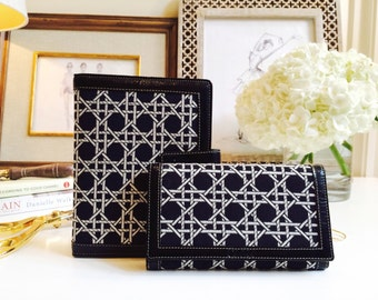 Black Fabric Wallet//Black Fabric Planner//Gift Set//Mother's Day Gift//Gift For Her//Gift For Mom