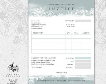 Receipt Etsy - Etsy invoice template