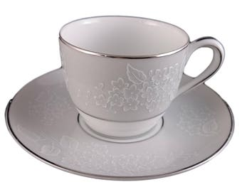 Damask Pattern from Noritake Demitasse Cup & Saucer