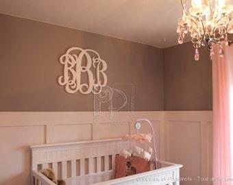 Wall lettering, letters, Monogram, name, Monogram Nursery wall letters