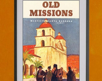 Old Missions - 8.5x11 Poster Print - also available in 13x19 - see listing details