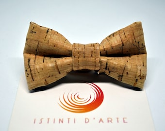 Handmade bow tie for chidl/boy made up of cork fabric