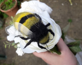 Needle felted lemon and lime sherbert Fantasy Bee