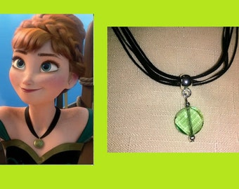Pretty Anna, Frozen Inspired Green Necklace