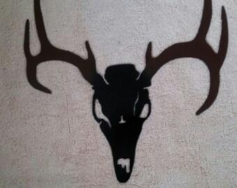 Metal Deer Skull Wall Art