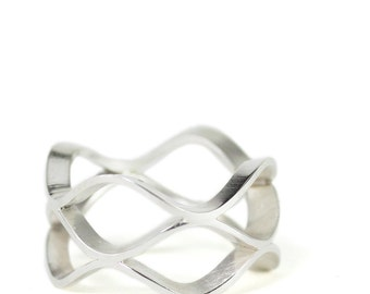 sterling silver honeycomb ring