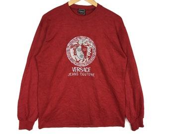 Rare!! Versace Sweatshirt Jeans Couture Sweatshirt Pullover