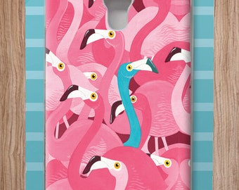 Adam Fisher Flamingos case for Samsung S4