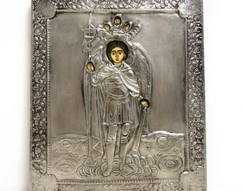 "Icon ""St. Arhangel Michael"" - copper with nickel"