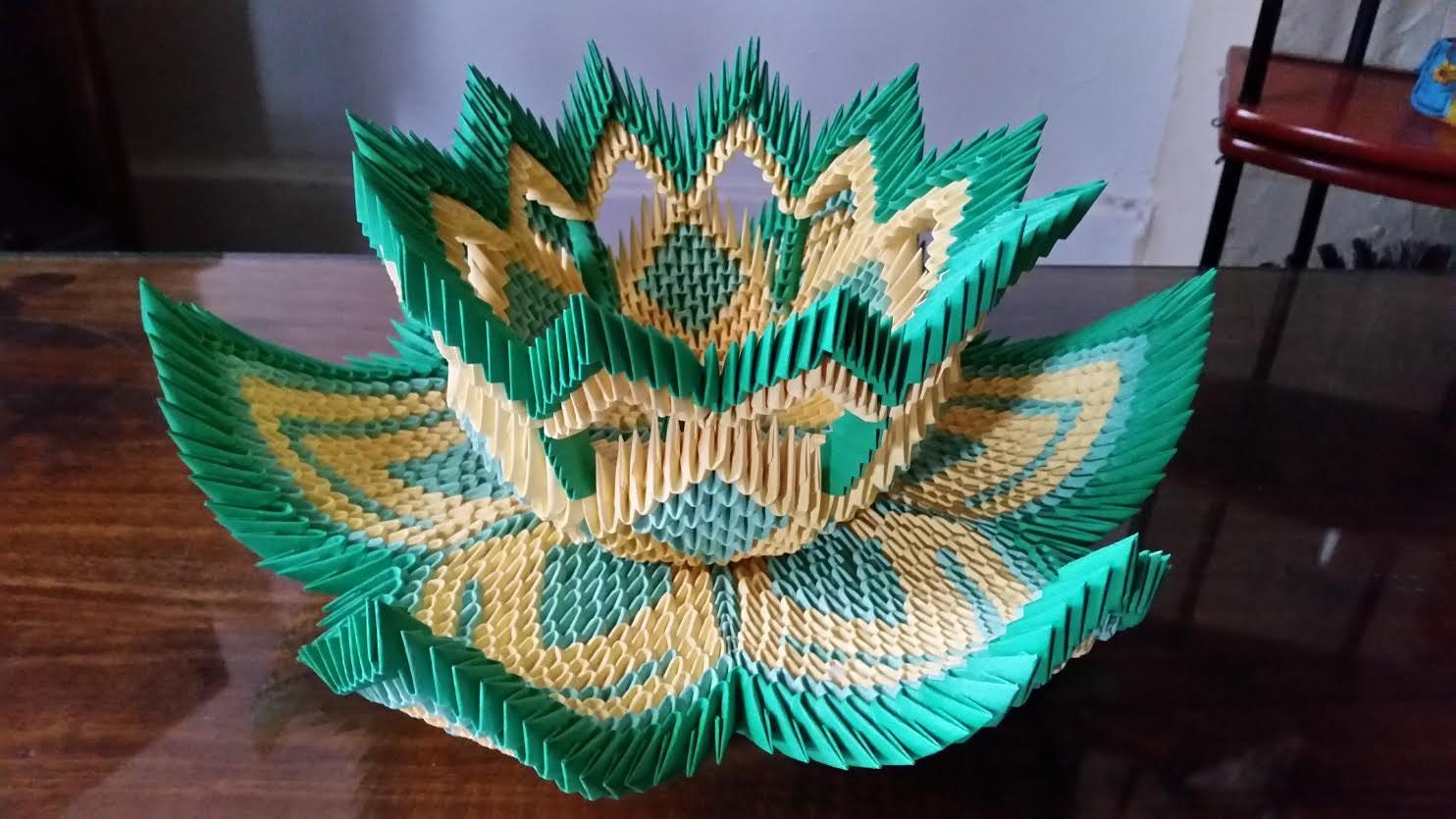 Origami 3d vatozozdevelopment 3d origami vase lotus 2 mightylinksfo
