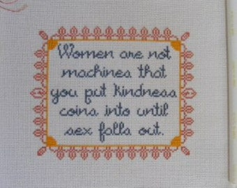 Women are Not Machines Cross-stitch Patterns