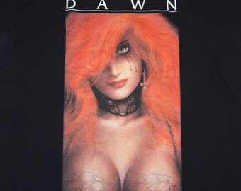 M/L * vtg 90s 1994 Cry For Dawn t shirt * horror comic book comics * 102.7