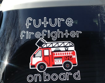 Future Firefighter On Board Car Decal