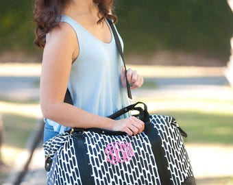 Monogrammed Weekender Bag, Monogrammed Duffle Bags, Overnight Bag, Weekender Bag, Gifts for her, Christmas Gifts, Bridesmaid Gifts