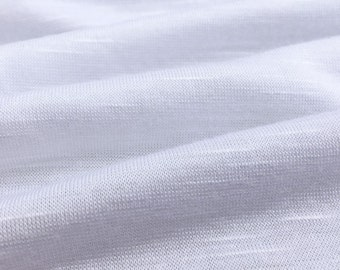 Rayon Slub Jersey Knit Fabric (Wholesale Price Available By the Bolt) Premium Quality - 10004 White 1 Yard
