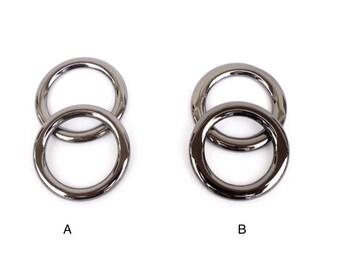 """2 PCS of black nickel(gun metal) 1 3/4""""  flat ring for purse/bag/tote/luggage making"""