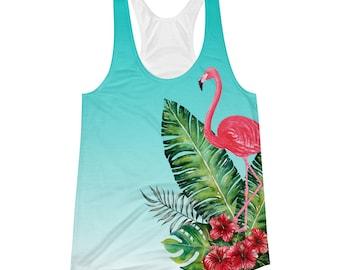 Watercolor Flamingo Women's Racerback Tank
