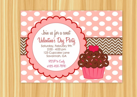 Cupcake invitation cupcake party valentines day party cupcake invitation cupcake party valentines day party valentines day birthday party cupcake birthday party filmwisefo Gallery