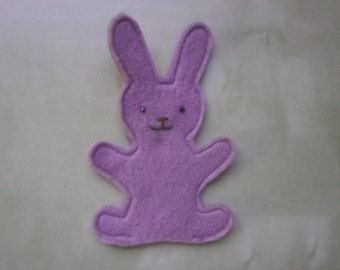 Purple Rabbit finger puppet