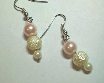 Triple Faux Pearl Earrings