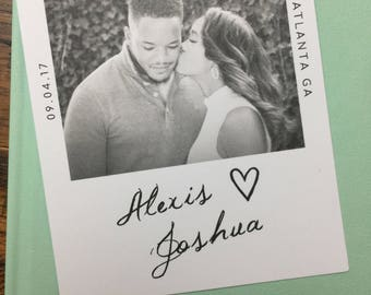 Black and White Polaroid Photo Save the Date