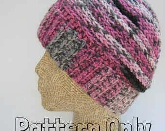 Ponytail Hat Pattern ~ Messy Bun Hat Pattern ~ PATTERN ONLY ~ Crochet Hat ~ Easy