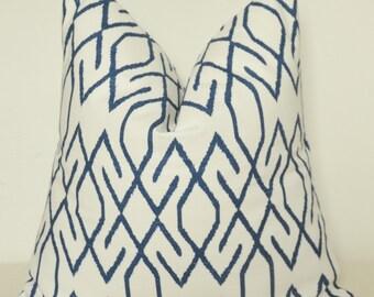 Pillow Cover, Decorative Pillow, Toss Pillow, Sofa Pillow, Throw Pillow, Blue Frework, Blue Lattice, Home Furnishing, Home Decor