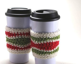 Chevron Cozy Cup for 16oz glass - Sleeve cup holder -  Coffee cup Holder
