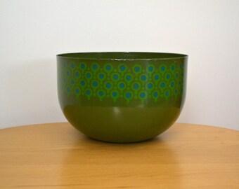 Scandinavian Modern Lollipop Enamelware Large Bowl by Merril Ames VEFA Epicure