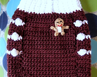 Size S - Dog Sweater Vest - Ginger Snap Christmas - Dark Cherry - Ready to Ship Today