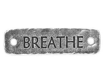2 TierraCast Breathe 1 and 9/16 inch ( 40 mm ) Silver Plated Pewter Links