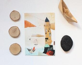 "Carte postale ""Le phrare"", 10,5x14,7cm"