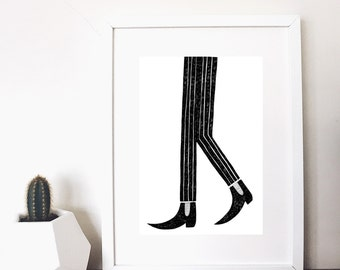 monochrome beatnik legs