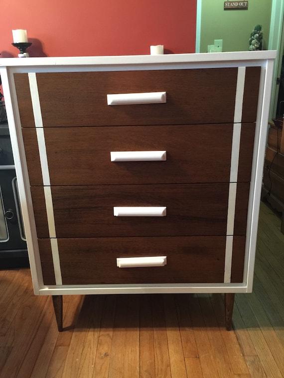SOLD to Kay Vintage Mid Century Modern Bassett 2 pc Dresser