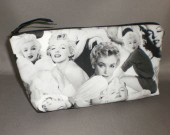 Marilyn Monroe Cosmetic Bag - Makeup Bag - Large Zipper Pouch
