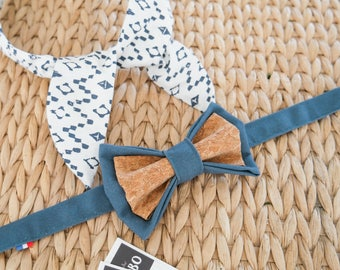 Bohemian headband duo + bow tie with matching Cork