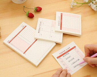 Weekly Plan Notepad, Daily Schedule notes, Monthly Plan Memo Pad, Checklist pad, to do list memo pad, memo pad, Paper Pad, Schedule Plan