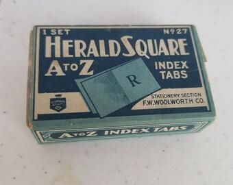 Antique Index Tabs Herald Square Index Tabs