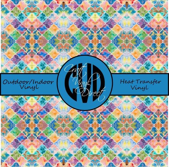Beautiful Patterned Vinyl // Patterned / Printed Vinyl // Outdoor and Heat Transfer Vinyl // Pattern 696