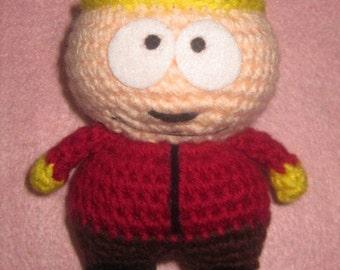 Adorable crochet Amigurumi South Park Eric Cartman